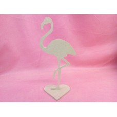 4mm MDF Standing Flamingo